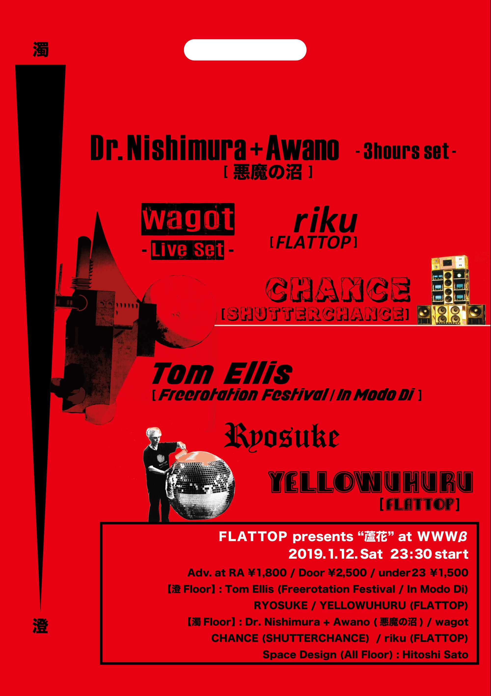 Tom Ellis / RYOSUKE / YELLOWUHURU / Dr. Nishimura + Awano (悪魔の沼) / wagot / CHANCE / riku