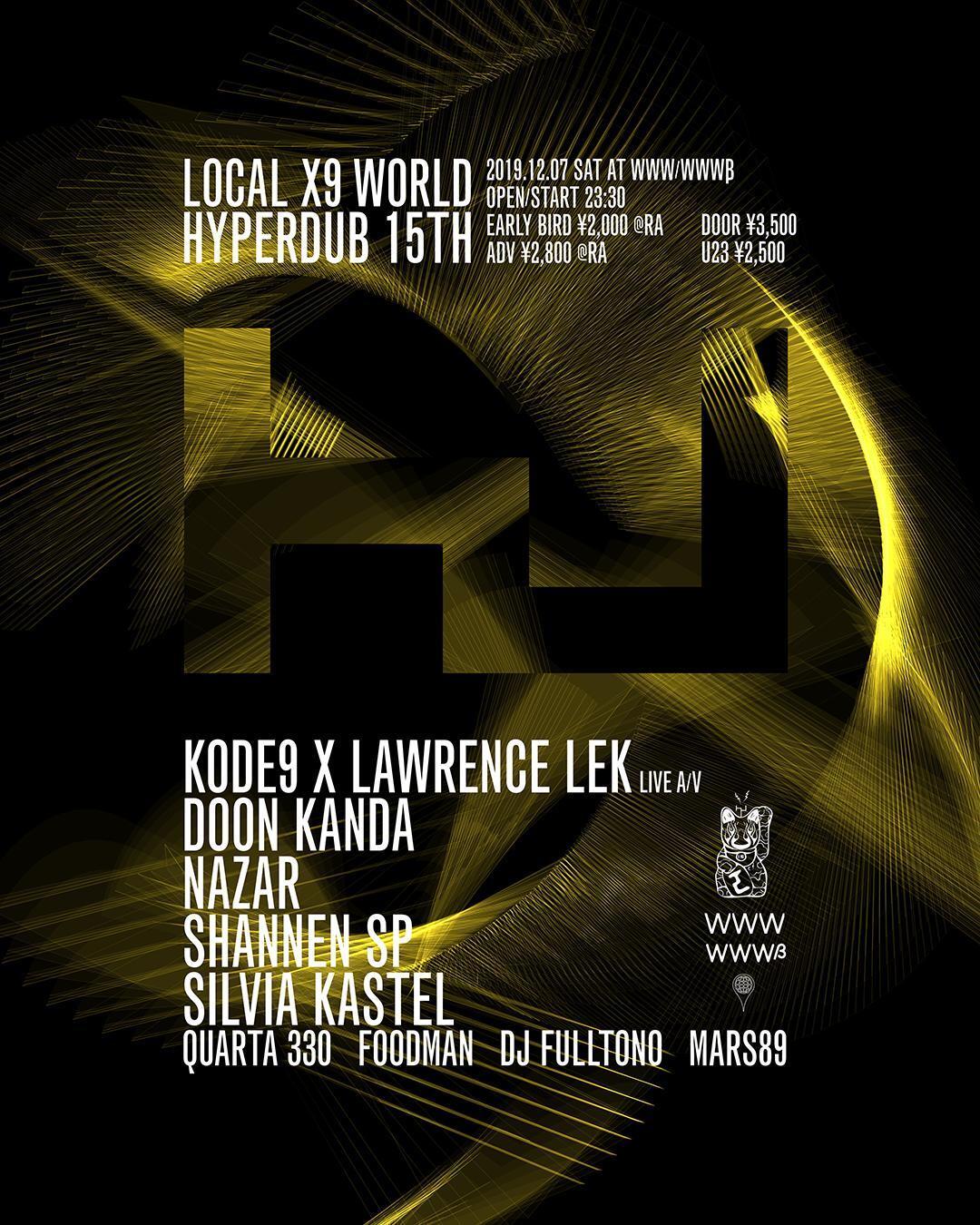 Kode9 / Lawrence Lek / Doon Kanda / Nazar / Shannen SP / Silvia Kastel / Quarta 330 / Foodman / DJ Fulltono - DJ Rashad Tribute set -  / Mars89