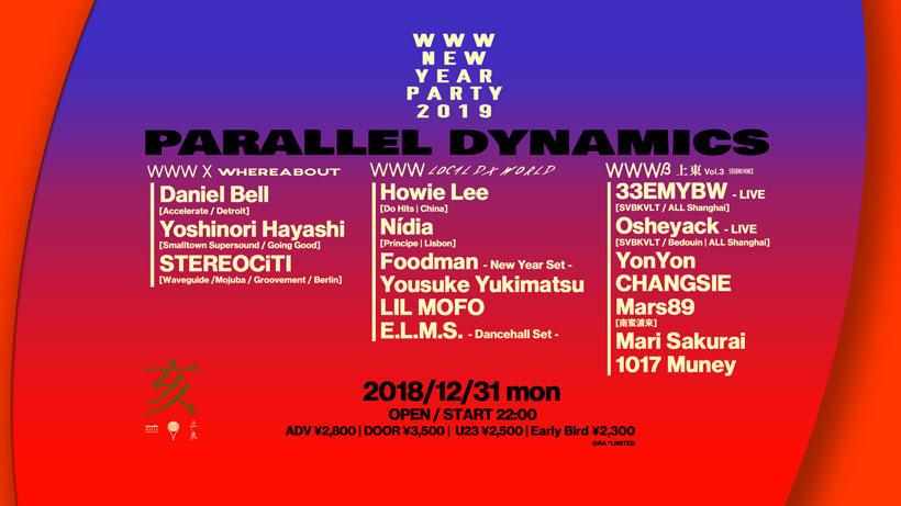 Daniel Bell / Yoshinori Hayashi / STEREOCiTI / Howie Lee / Nídia / Foodman / Yousuke Yukimatsu / LIL MOFO / E.L.M.S. / and more