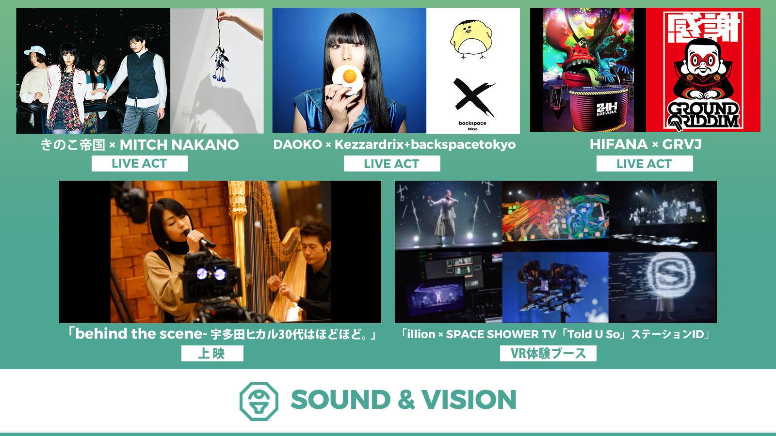 きのこ帝国 × MITCH NAKANO / DAOKO × Kezzardrix+backspacetokyo / HIFANA × GRVJ